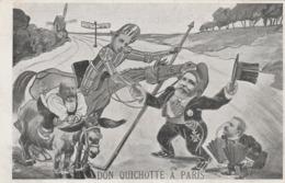 CPA PARIS ESPAGNE Caricature Satirique Personnages Politique Don Quichotte Sancho Pança Humour Illustrateur (2 Scans) - Satiriques