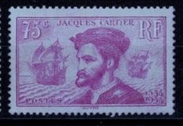 France 1934 - Jacques Cartier - YT N°296 - Neuf Sans Charnière - France