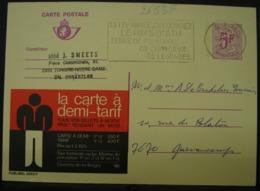 Publibels. 2653 F. La Carte à Demi-tarif. Chemins De Fer Belges - Stamped Stationery