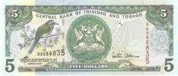 TRINIDAD E TOBAGO 5 DOLLARS 2002 PICK 42 UNC - Trinidad En Tobago