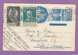 ENTIER POSTAL AVEC AFFRANCHISSEMENT COMPLÉMENTAIRE POUR BALE,1941. - Ganzsachen