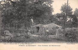 Thème.  Métiers Divers: Bois       91 Forêt De Sénart   Une Cabane De Bûcherons     (Voir Scan) - Berufe