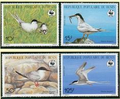 Benin Set Swallow Birds Schwalbe V�gel ** MNH WWF Bv33 - Benin - Dahomey (1960-...)