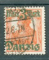 Danzig Gdansk Michel Nr.29 I PF V O Variety Broken 3 From Overprint Ip81 - Danzig
