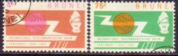 BRUNEI 1965 SG 132-33 Compl.set Used ITU Centenary - Brunei (...-1984)