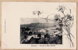 X01194 Peu Commun DIVONNE Ain Village  Et MONT-MUSSY 1890s Edition DETRAZ Photographe Genève - Divonne Les Bains