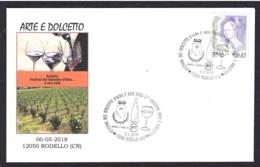 12.- ITALY 2018 SPECIAL POSTMARK WINE VIN VINO WIJN -RODELLO - ITALIA - Vinos Y Alcoholes