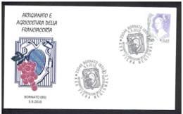 15.- ITALY ITALIA 2010. SPECIAL POSTMARK.. CRAFTS AND AGRICULTURE OF THE GRAPE FRANCIACORTA. BORNATO (ITALIA) - Vinos Y Alcoholes