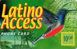 SUIZA. PREPAID. Colibri.  Latino Access. CH-PRE-LAT-0002A. (023) - Pájaros