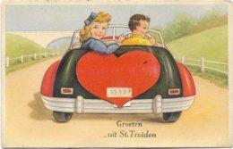 Groeten Uit Sint-Truiden ( Carte Système)in Perfekt Staat 1955 - Sint-Truiden