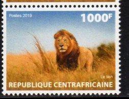 CENTRAL AFRICAN REPUBLIC, CAR, 2019, MNH, FAUNA, LIONS, 1v - Big Cats (cats Of Prey)