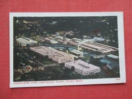 Aeroplane View Chevrolet Plant  Flint Michigan  Ref 3635 - Postcards