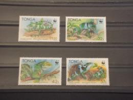 TONGA - 1990 WWF IGUANE 4 VALORI - NUOVI(++) - Tonga (1970-...)