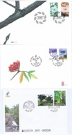 Denmark, Faroe Islands, And Greenland 2011, Europa - CEPT - Forests; 3 Set Of 2 On FDC - 2011