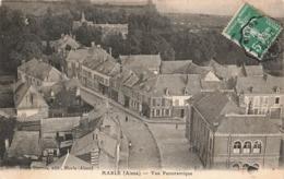 02 Marle Vue Panoramique Cachet Convoyeur Ambulant Laon à Hirson 1913 - Other Municipalities