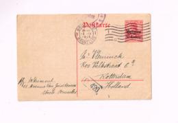 Entier Postal à 10 Centimes.Expédié De Bruxelles à Rotterdam.Censuré - Occupation Allemande