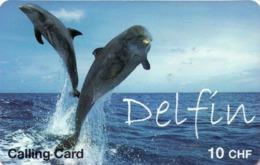 SUIZA. PREPAID. Delfin - Dolphin. CH-PRE-CCDO-1A. (027) - Delfines