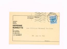 """""""Imprimerie Depienne Burnotte,Bastogne"""" Sur Carte De Bastogne à Namur. - 1951-1975 Heraldic Lion"""