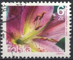 Pologne 2016 Oblitéré Rond Used Série Fleurs Et Fruits Lilium Lylas SU - Used Stamps