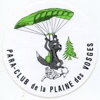 AUTOCOLLANT PARA CLUB DE LA PLAINE DES VOSGES  LOUP PARACHUTE MOUTON - Autocollants