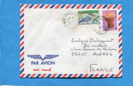 MARCOPHILIE-Lettre- BURKINA FASO>France Cad  1989-2-stamps-N°789+ Oiseau Martin Pêcheur++musique - Burkina Faso (1984-...)