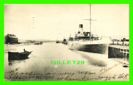 """SHIPS, BATEAUX - """" SUSSEX """" THE RIVEROUSE AT NEWHAVEN - TRAVEL IN 1906 - VALENTINES SERIES - - Paquebote"""