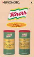 Télécarte Japon / 110-016 - Pub  KNORR AJINOMOTO - Soupe - Chicken Consommé - Food Advertising Japan Phonecard - Alimentazioni