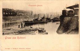 CPA AK Duisburg- Ruhrort- Eisenbahn Bassin GERMANY (901010) - Duisburg
