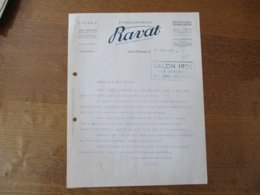 SAINT-ETIENNE ETABLISSEMENTS BAVAT CYCLES PIECES DETACHEES DE PRECISION SALON 1926 COURRIER DU 20 SEPTEMBRE 1926 - Frankreich