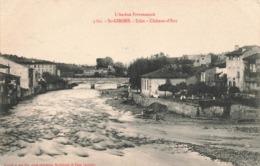 09 St Saint Girons Salat Chateau D' Eau Cpa Ariege Pittoresque Cachet Convoyeur Ambulant Foix à Boussens 1906 - Saint Girons