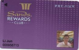 Carte Casino : Sands Rewards Club : Marina Bay Sands Singapore Singapour - Casino Cards