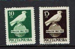 """POLAND...mh...scarce """"Groszy"""" Overprine...1950's - Unused Stamps"""