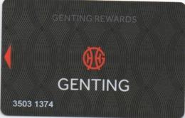 Carte De Casino : Genting Rewards Grande Bretagne - Cartes De Casino