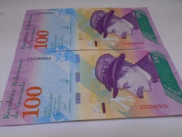 Venezuela, 100 Pesos 2018, Replacement, Consecutive, Crisp, UNC, Beautiful Bill About Animals. - Venezuela