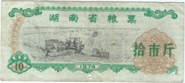 China (CUPONES) 10 Jin = 5 Kg Hunan 1978 Ref 375-2 - China