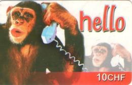 SUIZA. PREPAID. Hello - Monkey. 01.2007. CH-PRE-CCAN-19. (059) - Tarjetas Telefónicas