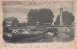 CPA Précurseur Toulouse - Canal Du Midi - Pont Et Colonnes Des Minimes (animation Avec Péniche En Beau Plan) - Toulouse