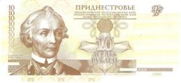 TRANSNISTRIA 10 RUBLEI 2000 PICK 36a UNC - Billets