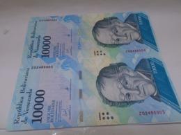 Venezuela, 10000  Pesos 2017, Replacement, Consecutive, Crisp UNC, Beautiful Bill About Animals. - Venezuela