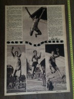1935 M SAUT EN LONGUEUR ROBERT PAUL HEIM LANG - Vieux Papiers