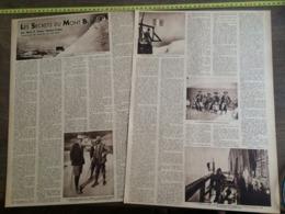 1935 M SECRETS DU MONT BLANC FRANZ NAMUR VALLOT - Vieux Papiers