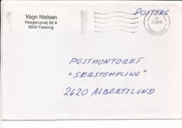Postsag Postal Service Cover - 21 June 1995 Fyns Postcenter - Danimarca