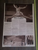 1935 M SKI ET PATINS CECILIA COLLEDGE CHAMONIX SIGMUND RUUD EQUIPE US GALERIES LAFAYETTE CYCLISME EUGENE GRENU - Vieux Papiers