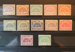 BURMA Birds Peafowl Telegraph Stamps 12v MNH - Birds