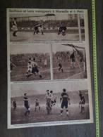 1935 M FOOTBALL SOCHAUX ET LENS VAINQUEURS A MARSEILLE ET A METZ - Vieux Papiers
