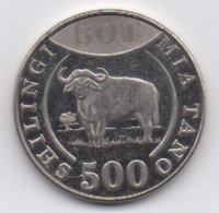 Tanzanie : 500 Shilingi 2014 HOLOGRAMME 500 & BOT (Diamètre 27,5 Mm) - Tanzanía