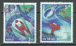 Norvège YT N°1199/1200 Championnats Du Monde De Ski Nordique à Trondheim Oblitéré ° - Norvège