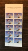 FINLAND 1994 Birds Booklet Bullfinch Christmas 10x 2.10 MNH - Birds