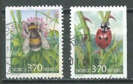 Norvège YT N°1192/1193 Insectes Bourdon Coccinelle Oblitéré ° - Norvège