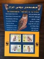 IRAN 2011 Birds Owls 4v In Presentation Booklet WWF MNH - Oiseaux
